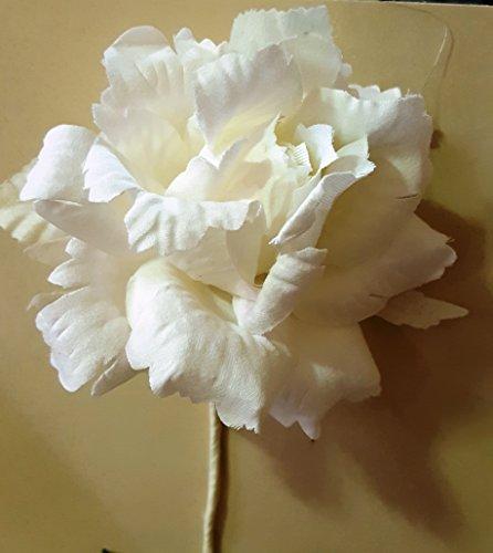 Set 6 pièces, Bonbonnière Fleur Bouquet Rose ad hoc, cm15 x 8 (ck5005p-6) (Crème)