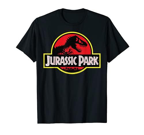 Jurassic Park Distressed Vintage Logo Camiseta