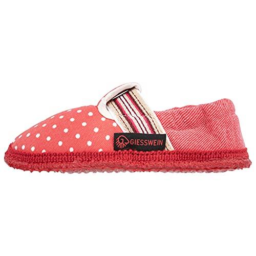 GIESSWEIN Mädchen Hausschuh Voorschoten - Leichte Kinder Hausschuhe aus Baumwolle, rutschfeste Sommer Pantoffeln, Kids Cotton Slippers