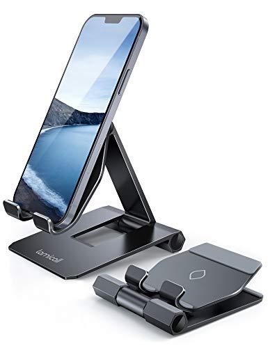 Lamicall Handy Ständer, Handy Halterung Verstellbare - Faltbarer Handyhalterung, Halter für iPhone 12 Mini, 12 Pro Max, 11 Pro, Xs Max, X, 8, 7, 6 Plus, SE, Samsung S10 S9, und Tablet mit 4.7-11 Zoll