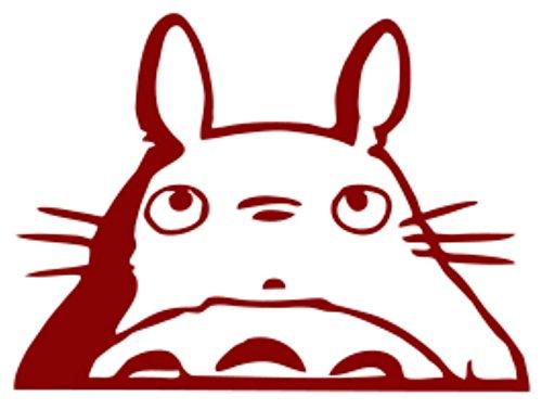 Totoro Head Car Window Decal (Red, 6')