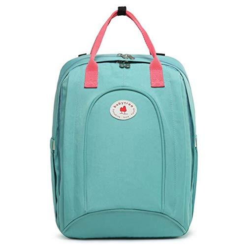 MXD Fashion Vielseitiger Rucksack mit Isolierfach, verschleißfest, wasserdicht, Nylon-Gewebe, große Kapazität, grün