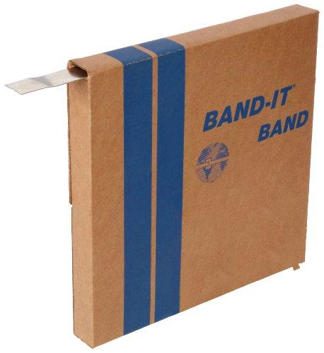 band-it c20299Edelstahl 201BRIGHT vergütetes Finish Band, 1/10,2cm Breite x 0,1cm Dick, 100Fuß Rolle