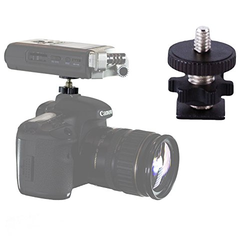 """Cam Caddie 1/4""""-20 Flashner High Strength Flash Shoe Converter/Adapter with Standard Tripod Threaded Post Made from High Strength Steel and Aluminum Hot and Cold Shoe Compatible (Black)"""