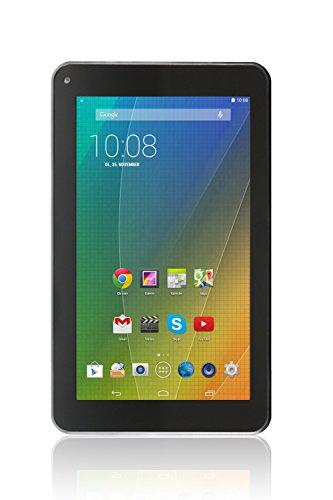 Xoro PAD 7A2 17,8 cm (7 Zoll) Tablet-PC (Cortex A7, 1,3GHz, 1GB RAM, 8GB Flash Speicher, WLAN, Bluetooth, USB, Android 4.4) inkl. Ständer und Softstoff-Schutzhülle schwarz