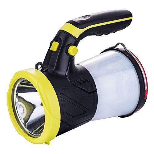 WMKEDB Everyday Flashlights, Projecteur LED Rechargeable Portable Portable Spotlight Lanterne de Camping, Banque d'alimentation Haute Puissance Super Lumineux, Lampe de Poche LED Projecteur Veilleuse