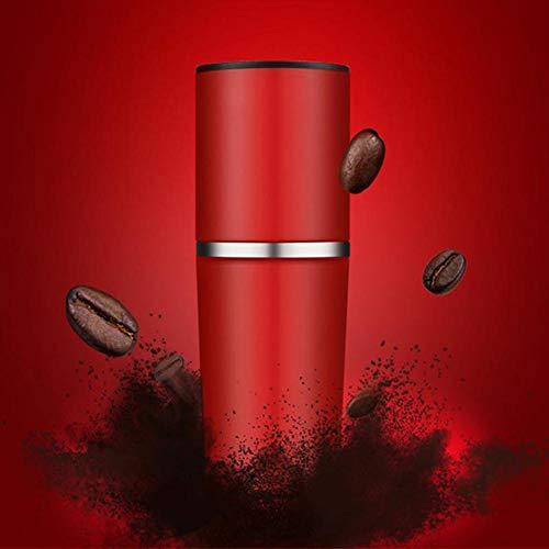 SJTL Kaffeemühle Manuell Tragbare Espressomaschine von Kolben Aktion Manuelle Kaffeemaschine Handdruck Tragbarer Coffee Kleine Reise Kaffeemaschine,Rot