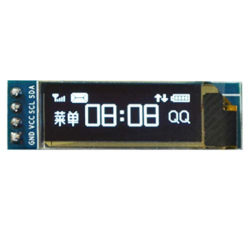 JCCOZ-URG 0.91 Inch OLED Display Module 12832 LCD Screen IIC I2C Nonparallel Port for Arduino URG (Color : White)