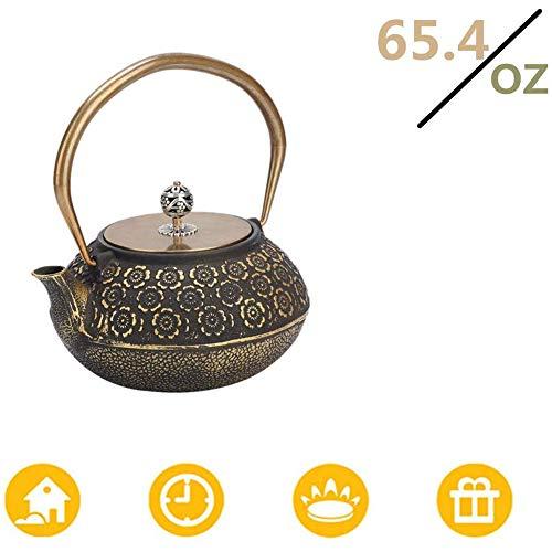 LCZ Teekanne, 1,2L Mini Jahrgang Gusseisen Teekanne Teekanne Tee Wohnaccessoires in Teekanne,Messing