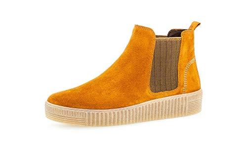 Gabor Damen Stiefeletten, Frauen Chelsea Boots,Best Fitting,Übergrößen,Optifit- Wechselfußbett, elegant Women's,Cayenne/Curry(nat,39 EU / 6 UK