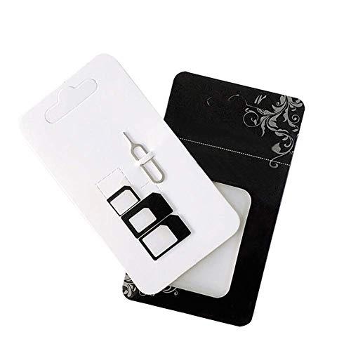AIUIN SIM-Karten Adapter, SIM-Karten-Adapter Schwarz für iPhone X 8/8 Plus / 7/7 Plus / 6S / 6s Plus / 5S / 5C / SE, Samsung Galaxy S7 / Edge S7 / S6 Edge, LG G5, GPS und The Anderes Smartphone