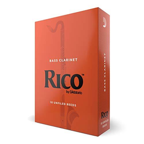 Rico Bass Clarinet Reeds, Strength 3.0, 10-pack