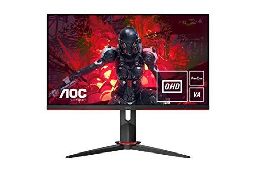 """AOC Monitor Italia Q27G2U Monitor Gaming Serie G2 Flat da 27"""", WQHD 2560 x 1440 a 144 Hz, HDMI, DisplayPort, FreeSync, Tempo di Risposta 1 ms, Nero/Rosso"""