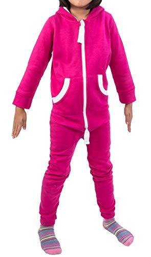 Rock Creek Kinder Jumpsuits Overall Jogger Onesie Jumpsuit Anzug Sportanzug Pyjama Fleecejumpsuit Jungen Mädchen D-385 Rosa 110-116