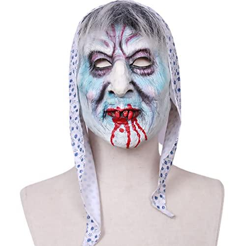 Mscara de Halloween Espantosa, Mascara Halloween Payaso, Mscara Payaso Mascara Terror Realista Careta de Payaso Aterrador para Disfraz de Adulto Halloween Carnaval Fiesta de Disfraces,Style 4