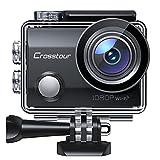 Crosstour Caméra Sport Full HD Webcam Wi-FI Étanche 30M 14MP 170 °Grand-Angle 2 Pouces LCD avec 2 Batteries Rechargeables 1050mAh et 12 Accessoires CT7000