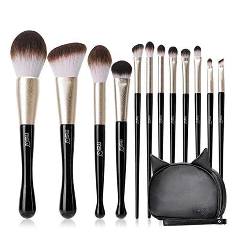 Pinceau De Maquillage Pour Chat Noir Pinceau Pinceau À Paupières Pinceau Blush Poudre Libre Outil De Maquillage, 12Pcs
