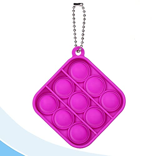 LZJZ Silicone Bubble Sensory Dimple Toy, Push Pop Fidget It Toy, Relieve The Stress of Autism, Anxiety Relief Tool for Children and Adults (Square Red)