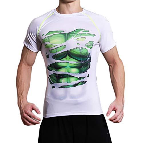 L&H Men's Super Hero Digi Camo Quick-Dry Compression Riding Tight Shirt