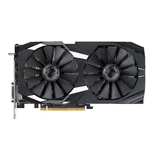 Fit For ASUS RX 580 8GB Tarjeta De Video GPU AMD Radeon RX580 8GB Tarjetas De Gráficos PUBG Pantalla De Juego VGA DVI HDMI VideoCard 570 560 550 Tarjeta Gráfica De Enfriamiento Tarjeta gráfica Perform