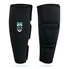 ULTIMATE SHIN PROTECTION: Built of strong durable 5mm Neoprene material, providing protection for deadlifts, rope climbs, cleans, snatches, box jumps and crossfit exercises SAVE TIME - QUICK WEAR AND REMOVE: Takes only a few seconds to wear and remov...