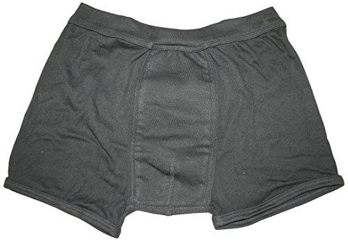 Carevitex Herren Inkontinenz Boxershorts, Farbe schwarz, waschbar und trocknergeeignet