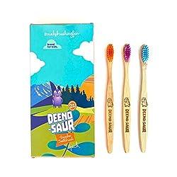 6. DEENO-Saur Organic Children's Bamboo Dinosaur Toothbrush