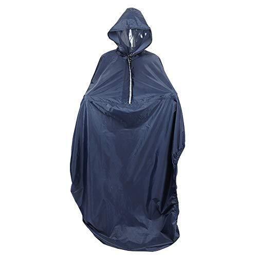 Waterdichte Regenjas, Blue Rain Cape, Rolstoel Waterdichte Poncho met Hood regenbestendig Coating Raincoat rolstoel Coat for Outdoor Rain
