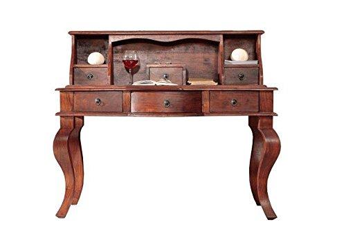 MASSIVMOEBEL24.DE Kolonialmöbel Schreibtisch Akazie Holz massiv Oxford #514