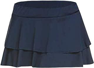 Women Short Skirt Sexy Solid Pleated Mini Skirt High Waist A-line Flared Casual Uniform Skirts