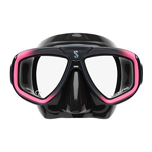 Scubapro Zoom Evo - Máscara de buceo, color negro y rosa