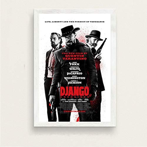 Django Unchained Quentin Tarantino Klassische Filmreihe Vintage Kunst Malerei Seide Leinwand Poster Wand Wohnkultur 50 * 70Cm No Frame