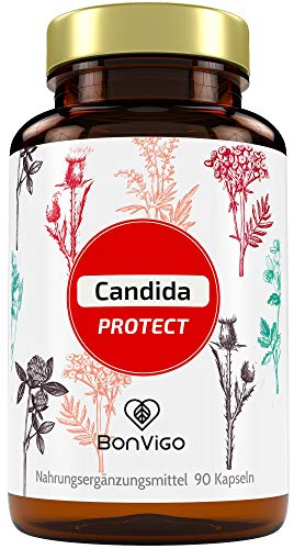 BonVigo Candida Protect - Das Naturprodukt. Complex mit 16 traditionellen Pflanzen, u.a. Kurkuma, Grapefruit, Kreuzkümmel, Kresse, Zimt, Ingwer, Cayenne - Von Ernährungsexperten entwickelte Rezeptur