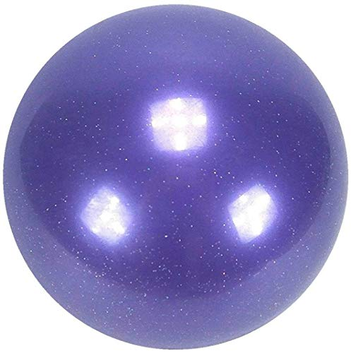 AllPlay Rhythmic Gymnastic Junior Competition Exercise Ball 16.5cm 360G Olympic Spec for Dance and Performance (16.5cm Glitter Purple)