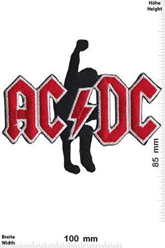 Ac Dc ACDC met Gitaar Rood Zilver Patchbadge Applique Geborduurd IJzer op