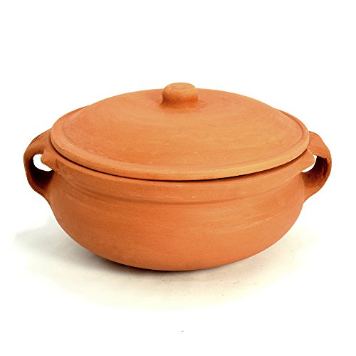 Ancient Cookware Clay Curry Pot, Medium, 8 Inch