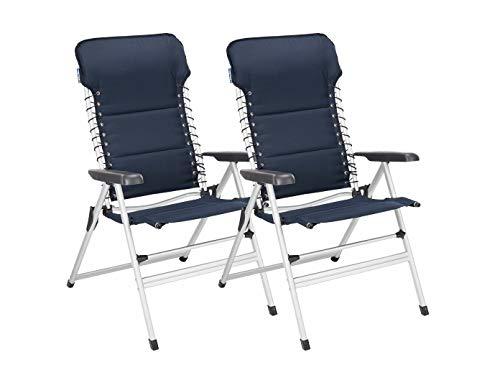 Lot de 2chaises de camping XXL rembourré–pliable et léger–Fauteuil relax stable avec confort