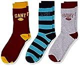 GANT Jungen D1. 3 Pack Socken, Rot (Mahogany Red 617), 34 (Herstellergröße: 34-36)