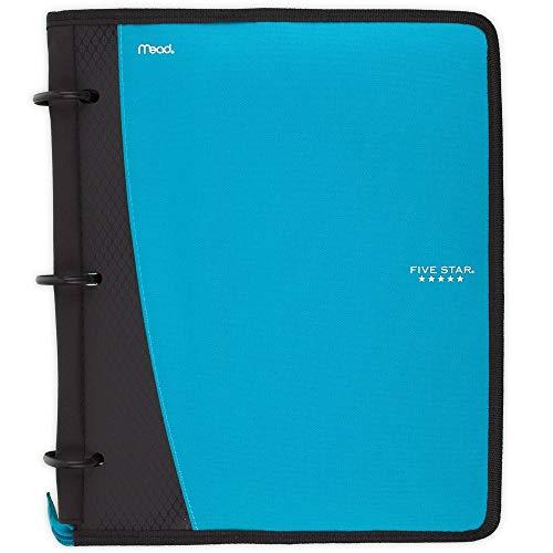 Five Star Flex Hybrid NoteBinder, 1 Inch Ring Binder, Notebook and Binder All-in-One, Teal (73420)