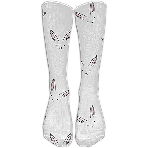 NA Leuke konijntjes spandex modieuze compressie kniekousen blijven zacht golf voor meisjes cartoon kniehoge lange buis crew sokken