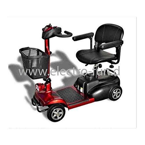 Eco Engel Elektromobil 401 ROT, 250 Watt, 6 km/h, Seniorenmobil; e Scooter 4 räder, Senioren-Scooter, E-Scooter, E-Roller