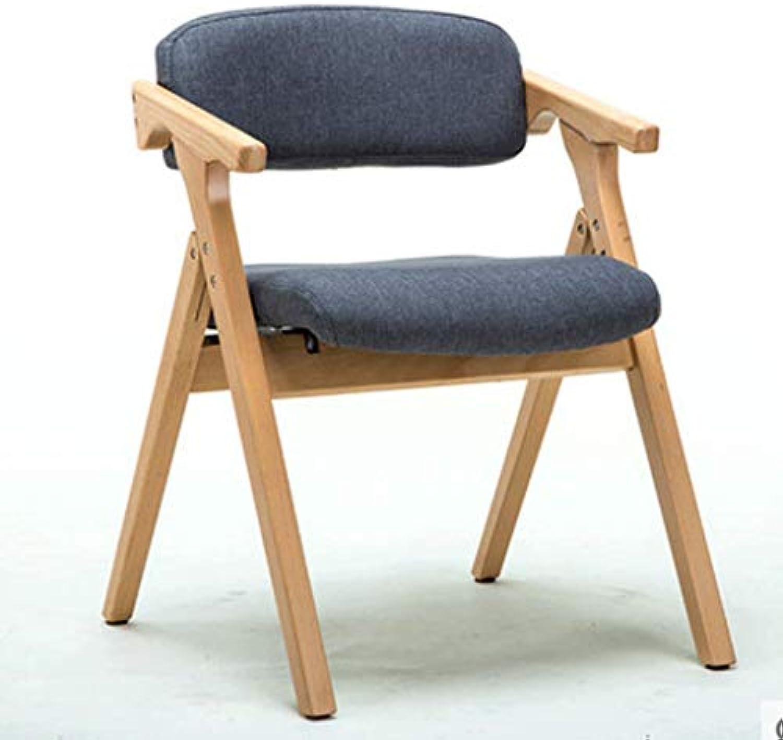 QenDsx Moderner minimalistischer Stuhl Kreativer Lounge Stuhl Faltbarer Computer Stuhl Massivholz Sessel Rücksitz Stuhl (Farbe   2)