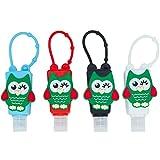Botellas de Viaje Portátiles para niños, Dispensadores vacíos de 30 mL para Rellenar Desinfectantes de Manos, Champús, Accesorio de Viaje para Niños – (Búho1, 4 PCS)