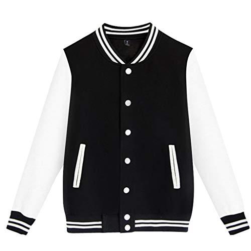 Aoogo Herren Sportsakko Pullover Jacke Mode Stehkragen übergangsjacke Casual Kurzmantel Business Baseballuniform-Strickjacke Slim Fit Funktionsjacke