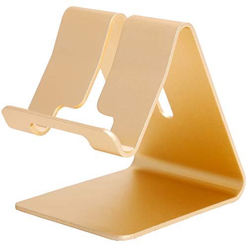 Soporte para teléfono móvil portátil, soporte universal de manos libres de aleación de aluminio para escritorio, soporte para teléfono inteligente, diseño de almohadilla de silicona antideslizante, do