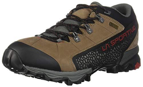 La Sportiva Men's Genesis Low GTX Waterproof Hiking Shoe, Taupe/Brick, 43.5 M EU