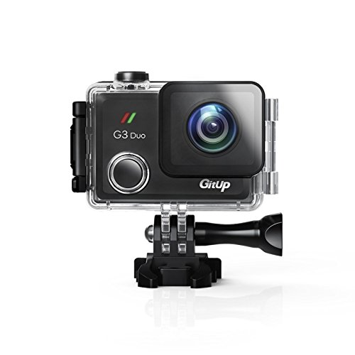 GitUp G3 Duo 2K Wi-Fi Touch Screen Action Camera 170° Lens Pro Pack with Main Camera Only