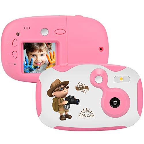 Cámara para niños Cámara Infantil Recargable Mini cámara Fotos niños con exhibición de 1,44 Pulgadas Festival Regalos de cumpleaños para niñas