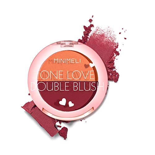 Fesjoy MINIMELI Makeup Cheek Matte Blush Foundation S-ilky Blusher Longue durée imperméable Naturel Éclaircir le maquillage du visage Fards à joues pour les débutants Home Party Utilisation quotidienn
