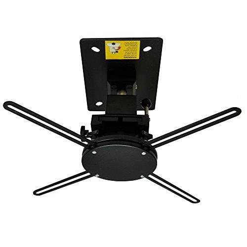 MAXlum Beamer-Halterung BeamFix Comfort Schwarz | Farbe: schwarz | Beamer-Deckenhalterung für fast alle Projektoren | Verstellbar durch Kugelgelenk | Max. Tragkraft: 10 kg